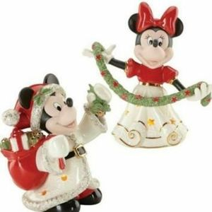 Lenox Merry Mickey and Minnie Lit set of 2